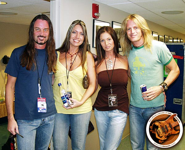 Reb with Tracey S., Lori and Doug · photograph © Bryan Lambert